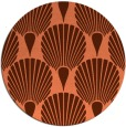 rug #427281 | round orange graphic rug