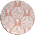 rug #427301 | round pink retro rug