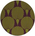 rug #427309 | round green graphic rug