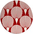 rug #427321 | round red retro rug