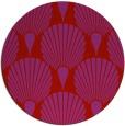 rug #427333 | round red retro rug