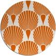 rug #427349 | round red-orange graphic rug
