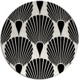 rug #427353   round black graphic rug
