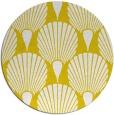 rug #427381 | round yellow retro rug