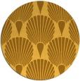 rug #427385 | round light-orange retro rug