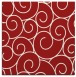 rug #428033 | square red circles rug