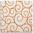 rug #428053 | square red-orange circles rug