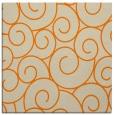 rug #428101   square orange circles rug