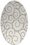 rug #428137 | oval beige circles rug