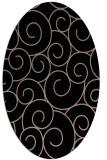 rug #428149 | oval beige circles rug