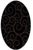 rug #428153 | oval black rug