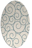 rug #428161 | oval blue-green circles rug
