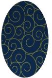 rug #428173 | oval green circles rug