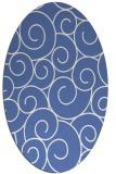 rug #428177   oval blue popular rug