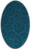rug #428185 | oval blue-green circles rug