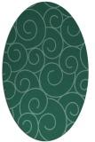 rug #428193 | oval blue-green circles rug