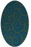 rug #428197 | oval blue-green circles rug