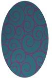 rug #428201 | oval blue-green circles rug