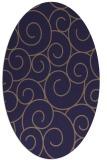 rug #428245 | oval blue-violet circles rug