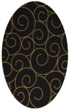 rug #428253 | oval black circles rug