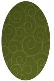 rug #428261 | oval green circles rug