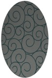 rug #428265 | oval blue-green circles rug