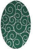 rug #428269 | oval blue-green circles rug