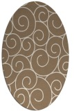 rug #428289   oval beige circles rug