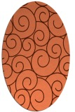 rug #428337 | oval red-orange circles rug