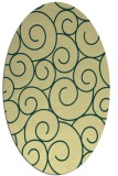 rug #428341 | oval yellow circles rug