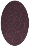 rug #428361 | oval purple circles rug
