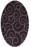 rug #428373 | oval purple circles rug