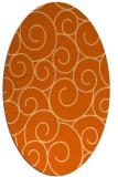 rug #428397 | oval red-orange circles rug