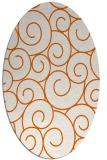 rug #428405 | oval red-orange circles rug