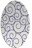 rug #428417 | oval white rug