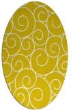 rug #428437 | oval white circles rug