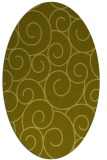 rug #428457 | oval light-green circles rug