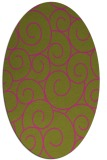 rug #428465 | oval light-green rug