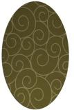 rug #428469 | oval light-green popular rug
