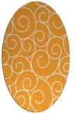 rug #428485 | oval light-orange circles rug