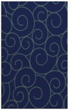 rug #428521 |  blue-green circles rug