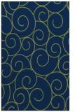 rug #428525 |  blue circles rug
