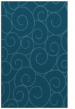 rug #428537    blue-green circles rug