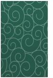 rug #428545 |  blue-green circles rug