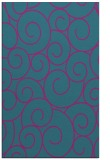 rug #428553 |  blue-green circles rug