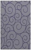 rug #428577 |  blue-violet circles rug