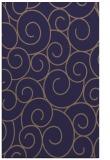 rug #428597    blue-violet circles rug