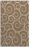 rug #428641 |  mid-brown circles rug