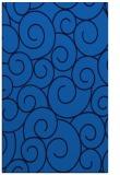 rug #428657 |  blue circles rug