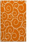 rug #428681 |  orange circles rug